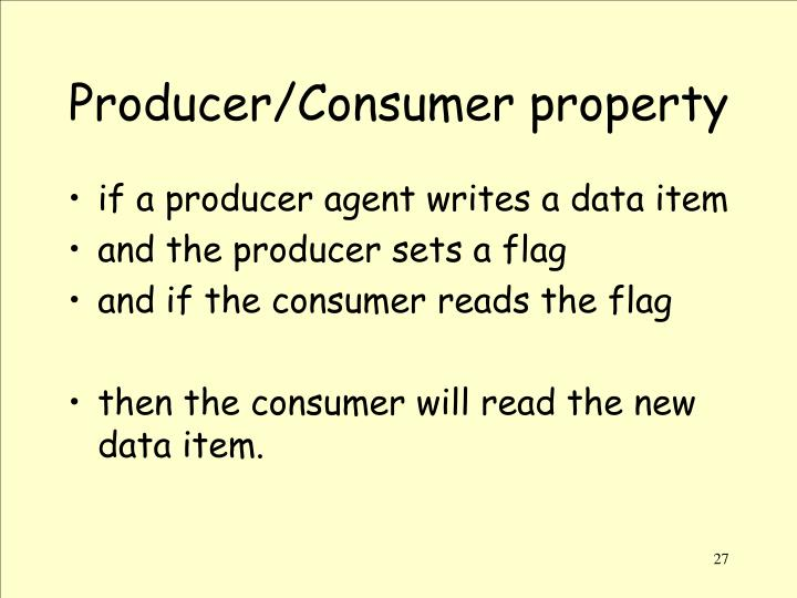 Producer/Consumer property