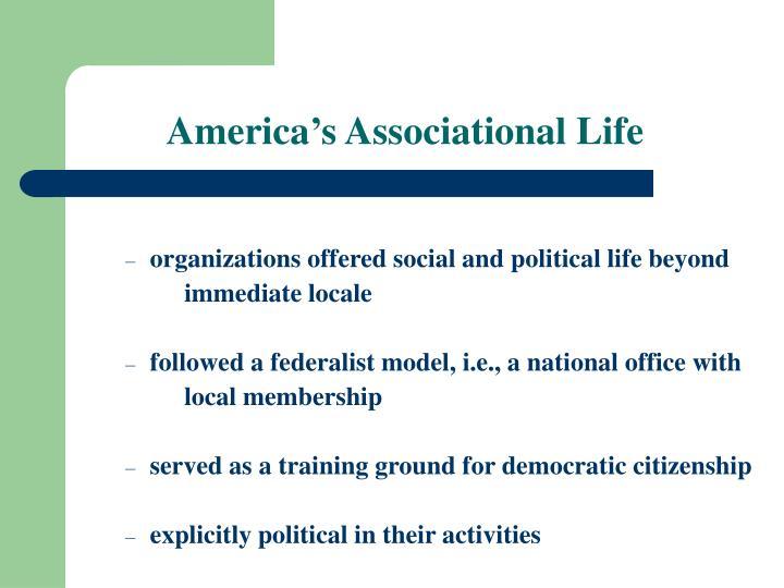 America s associational life
