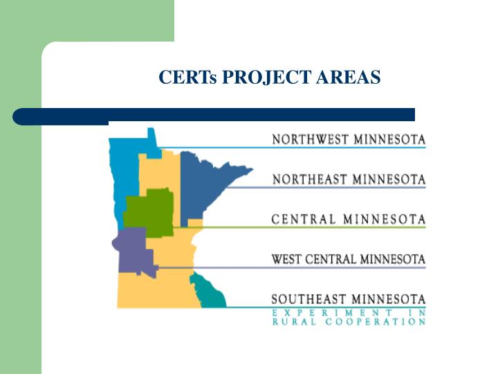 CERTs PROJECT AREAS