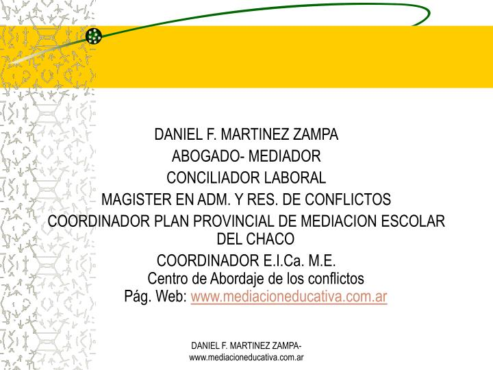 DANIEL F. MARTINEZ ZAMPA