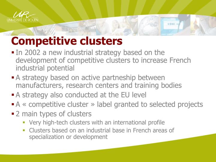 Competitive clusters