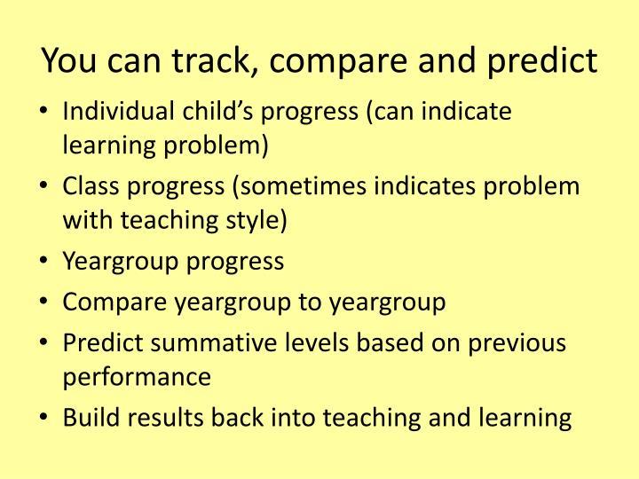 You can track, compare and predict