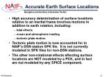 accurate earth surface locations