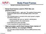 body fixed frames