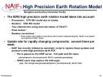 high precision earth rotation model
