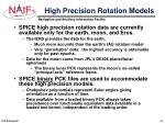 high precision rotation models