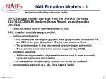 iau rotation models 1