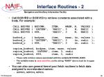 interface routines 2