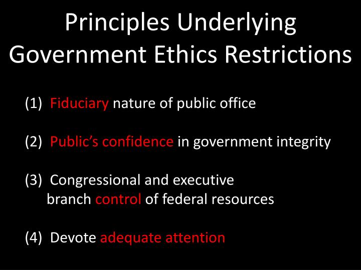 Principles Underlying