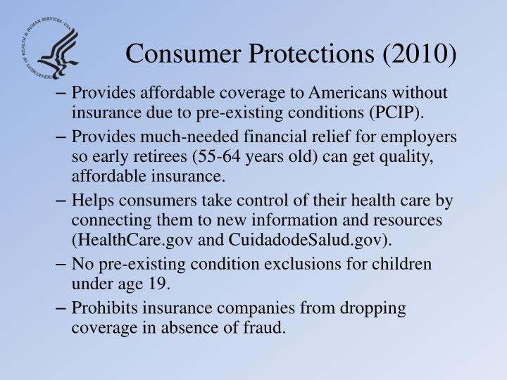 Consumer Protections (2010)