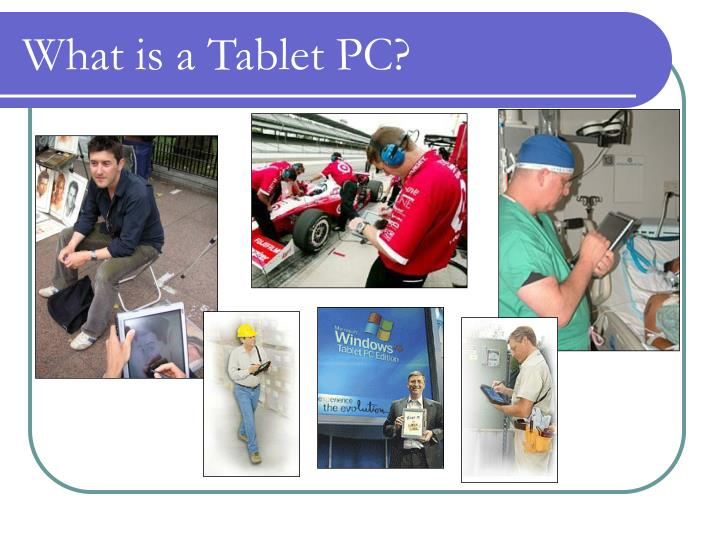 What is a tablet pc