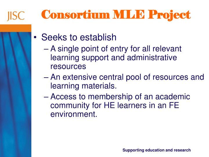 Consortium MLE Project