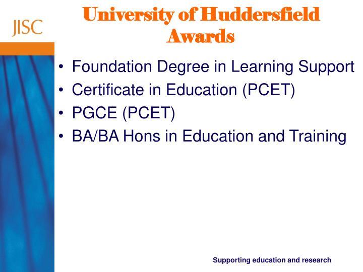 University of huddersfield awards