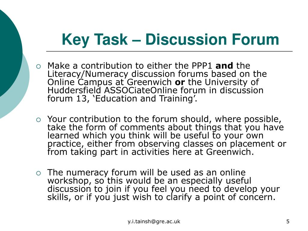 PPT - Can Discussion Forums be a Learning Tool in ITT
