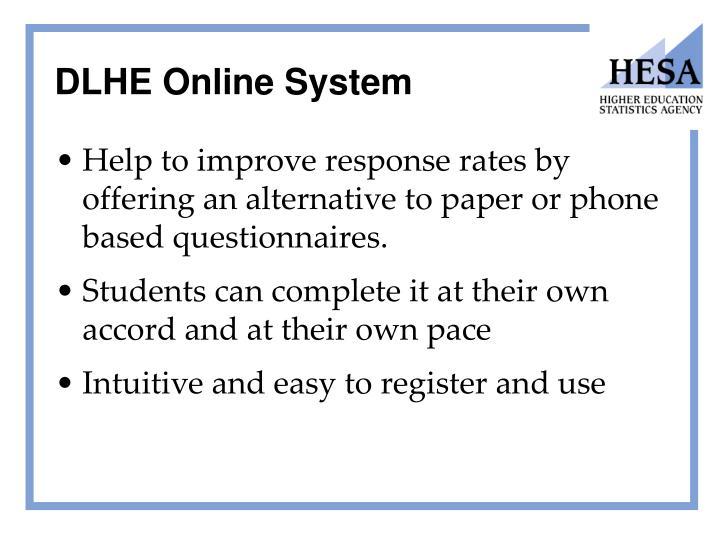 DLHE Online System