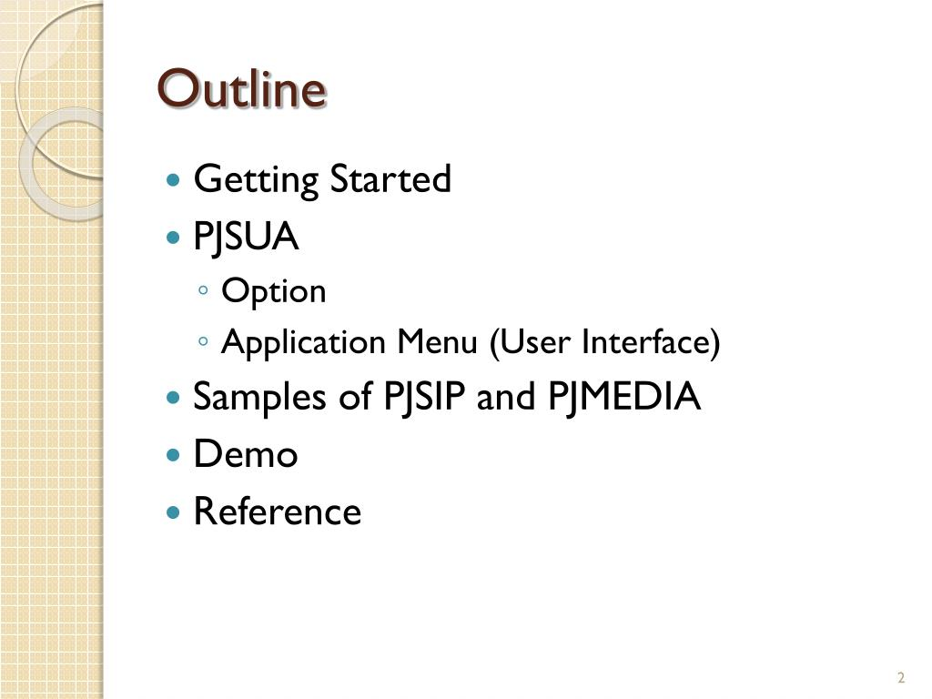 PPT - PJSUA – A command line SIP user agent PowerPoint