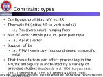 constraint types