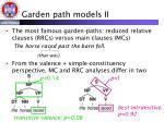 garden path models ii