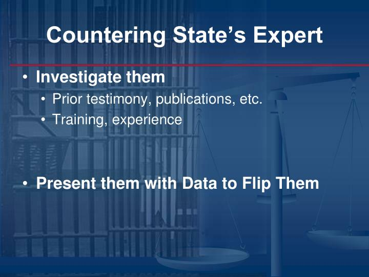 Countering State's Expert