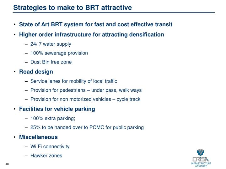 Strategies to make to BRT attractive