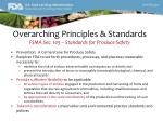 overarching principles standards fsma sec 105 standards for produce safety