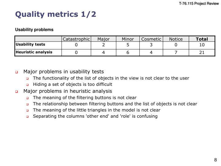 Quality metrics 1/2