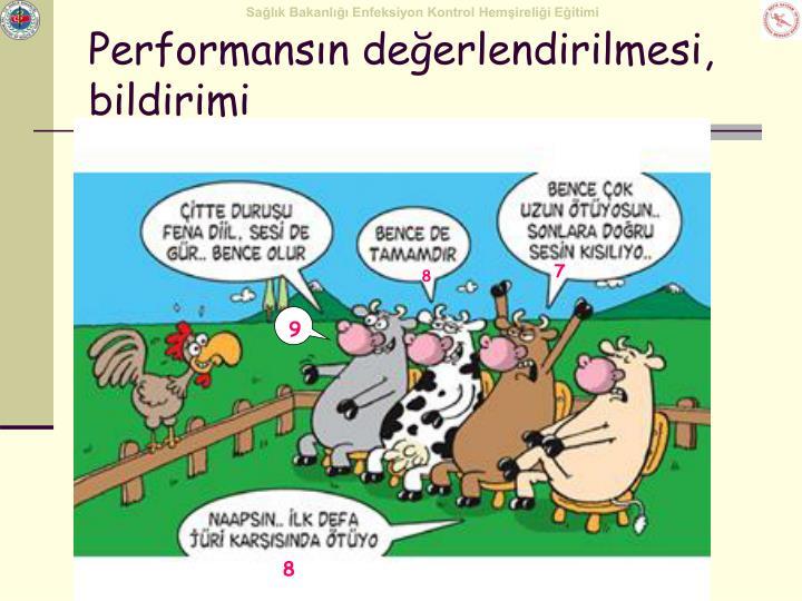 Performansın değerlendirilmesi, bildirimi