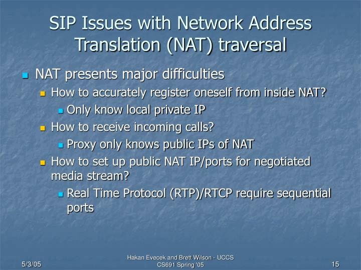 SIP Issues with Network Address Translation (NAT) traversal