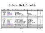 e series build schedule