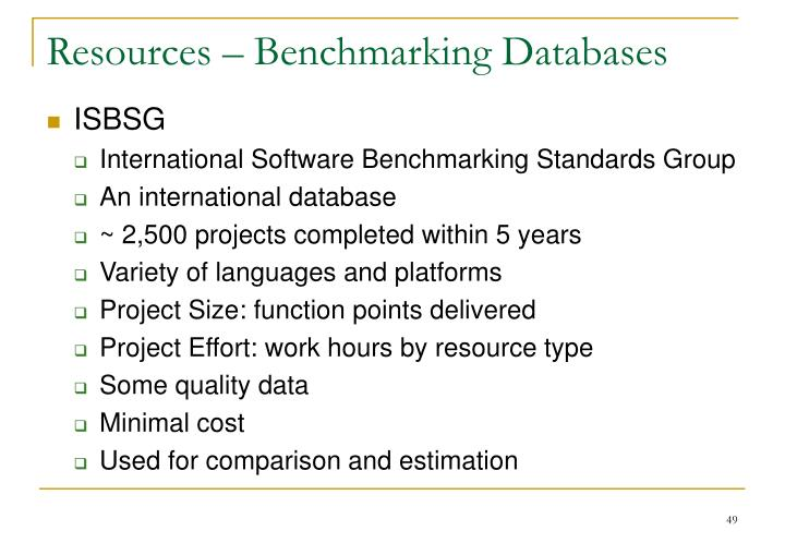 Resources – Benchmarking Databases