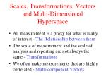 scales transformations vectors and multi dimensional hyperspace