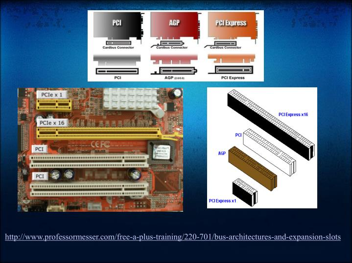 http://www.professormesser.com/free-a-plus-training/220-701/bus-architectures-and-expansion-slots