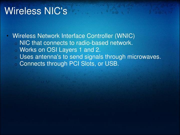 Wireless NIC's