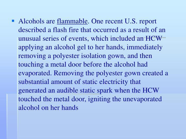 Alcohols are