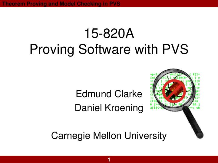 15 820a proving software with pvs