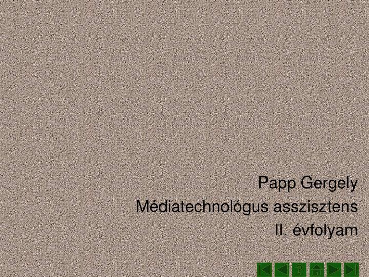 Papp Gergely