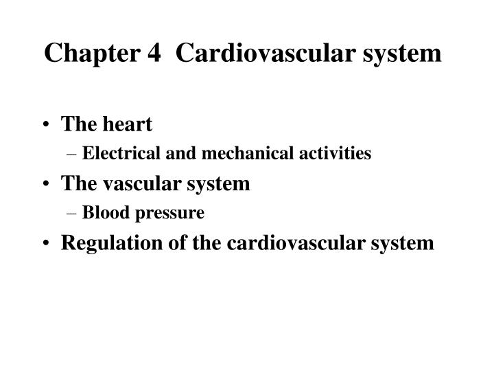 chapter 4 cardiovascular system n.