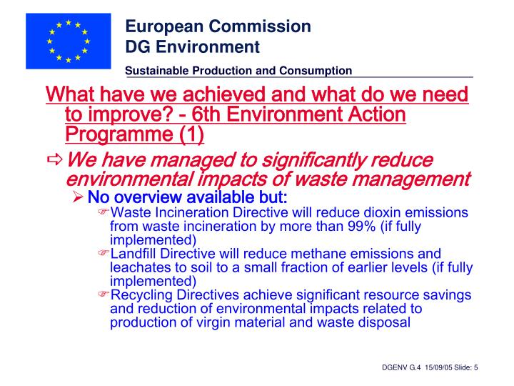 What have we achieved and what do we need to improve? - 6th Environment Action Programme (1)