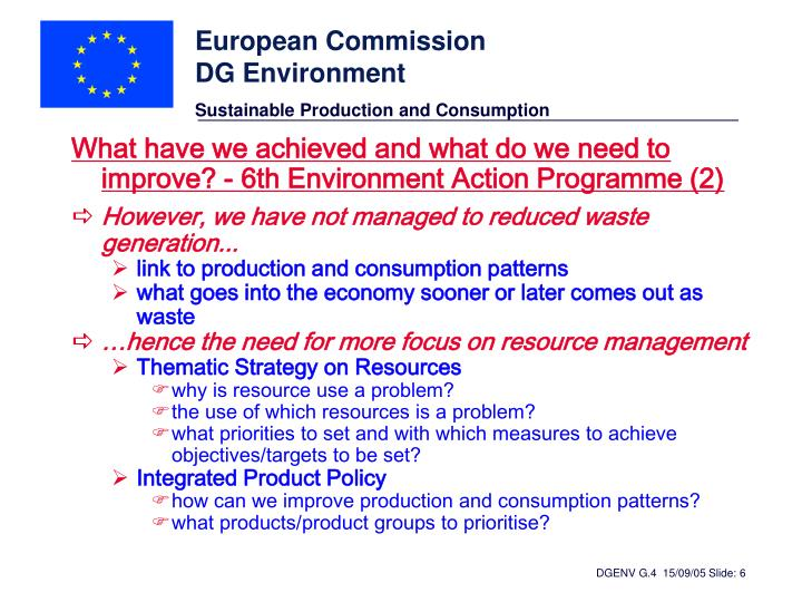 What have we achieved and what do we need to improve? - 6th Environment Action Programme (2)