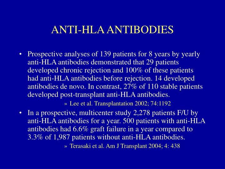 ANTI-HLA ANTIBODIES
