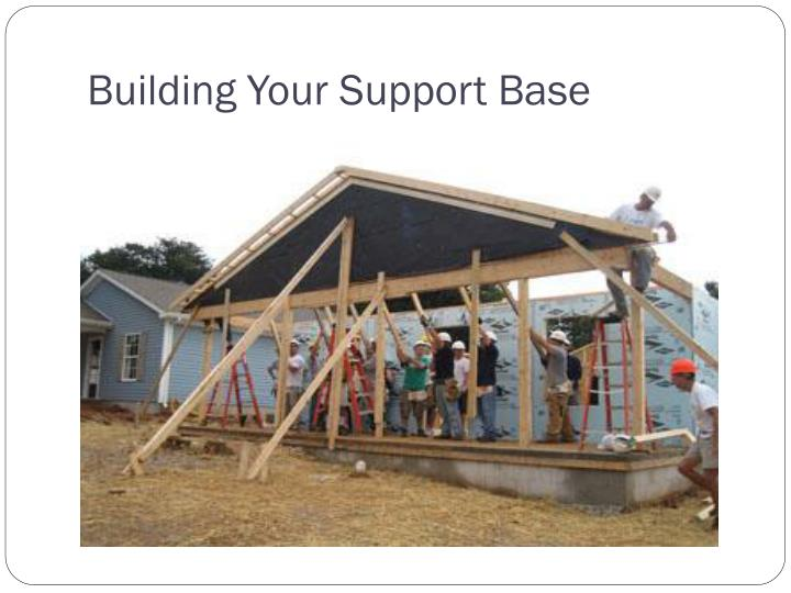 Building your support base