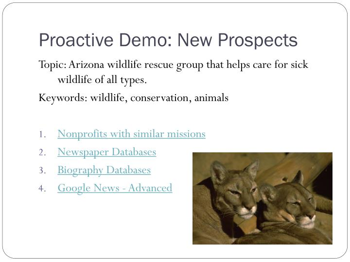 Proactive Demo: New Prospects