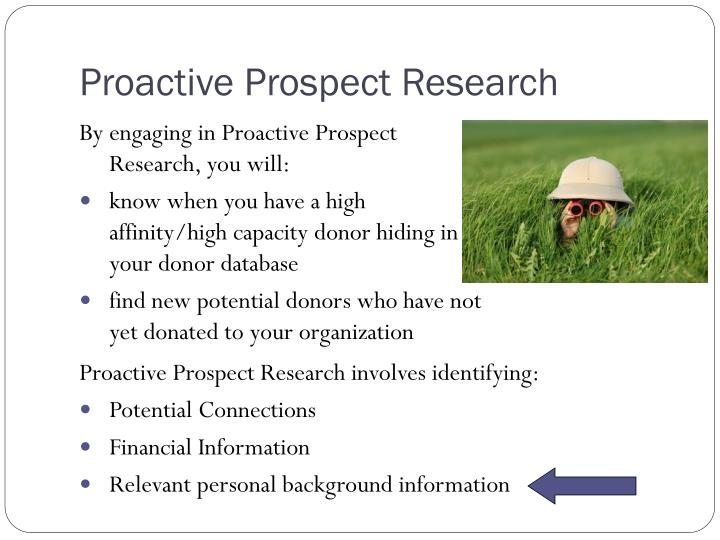 Proactive Prospect Research