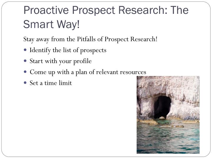 Proactive Prospect Research: The Smart Way!