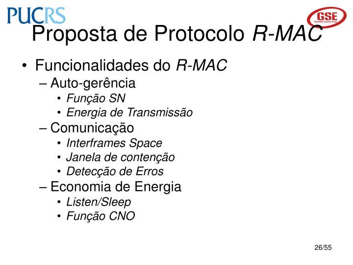 Proposta de Protocolo