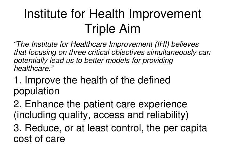 Institute for Health Improvement