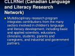 cllrnet canadian language and literacy research network