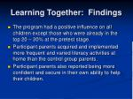 learning together findings