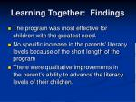 learning together findings1