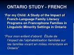 ontario study french